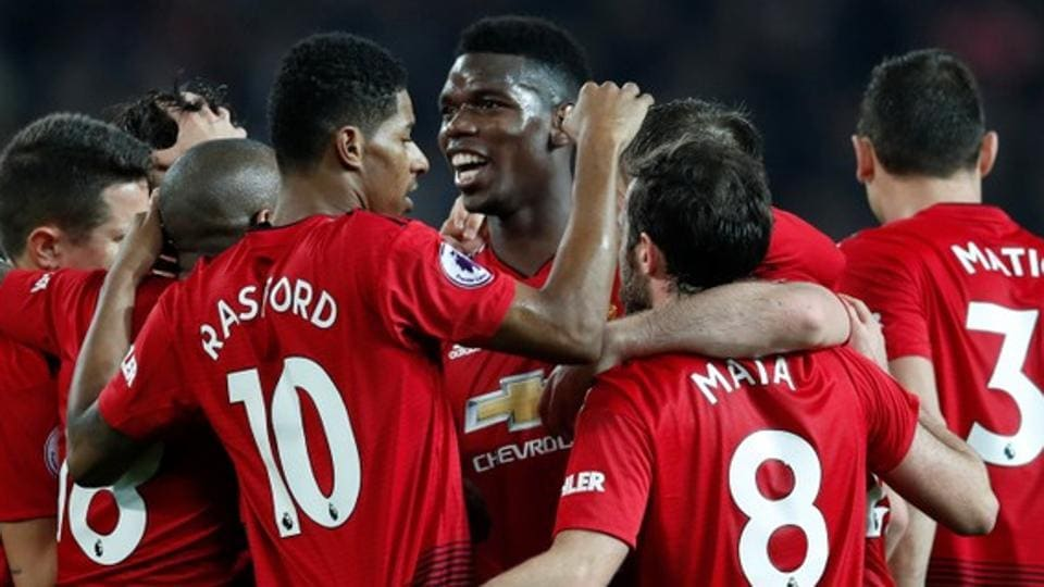 File image of Manchester United's Paul Pogba celebrating after scoring a goal.