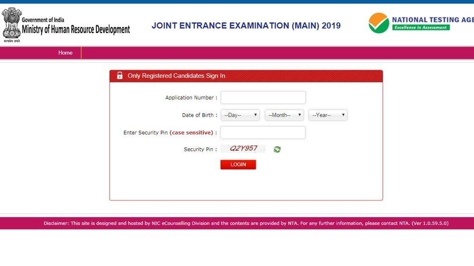 JEEMAINresults declared at jeemain.nic.in