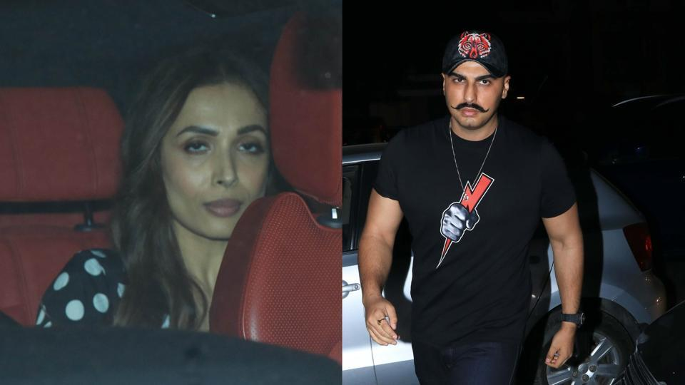 Malaika Arora, Arjun Kapoor twin in black as they attend a party together. See pics