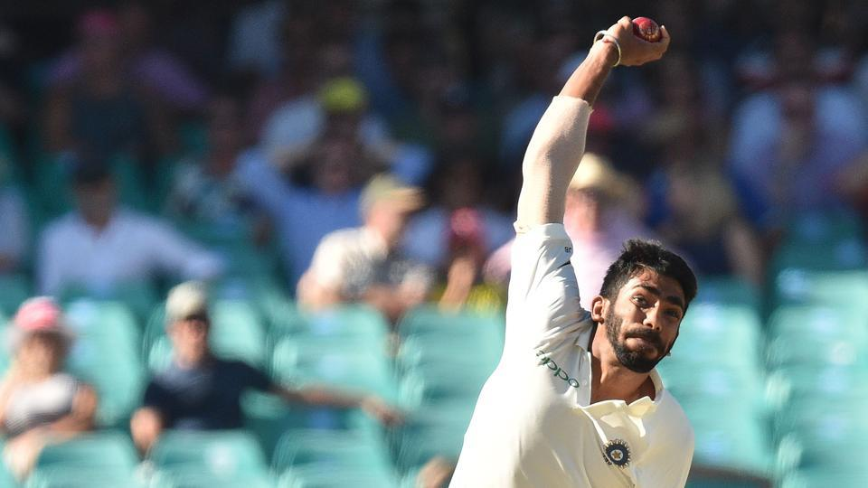 Jasprit Bumrah in action during India's Test series against Australia.