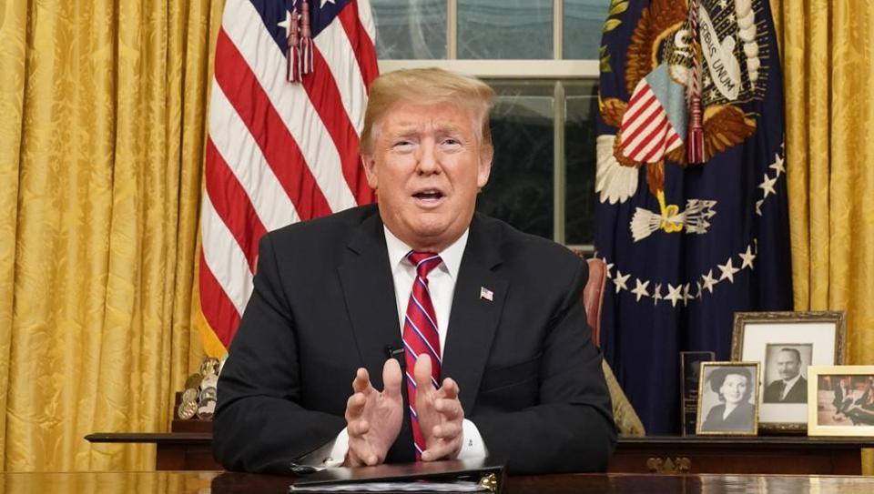 US president Donald Trump spoke via video Friday to participants in this year's March for Life on the National Mall.