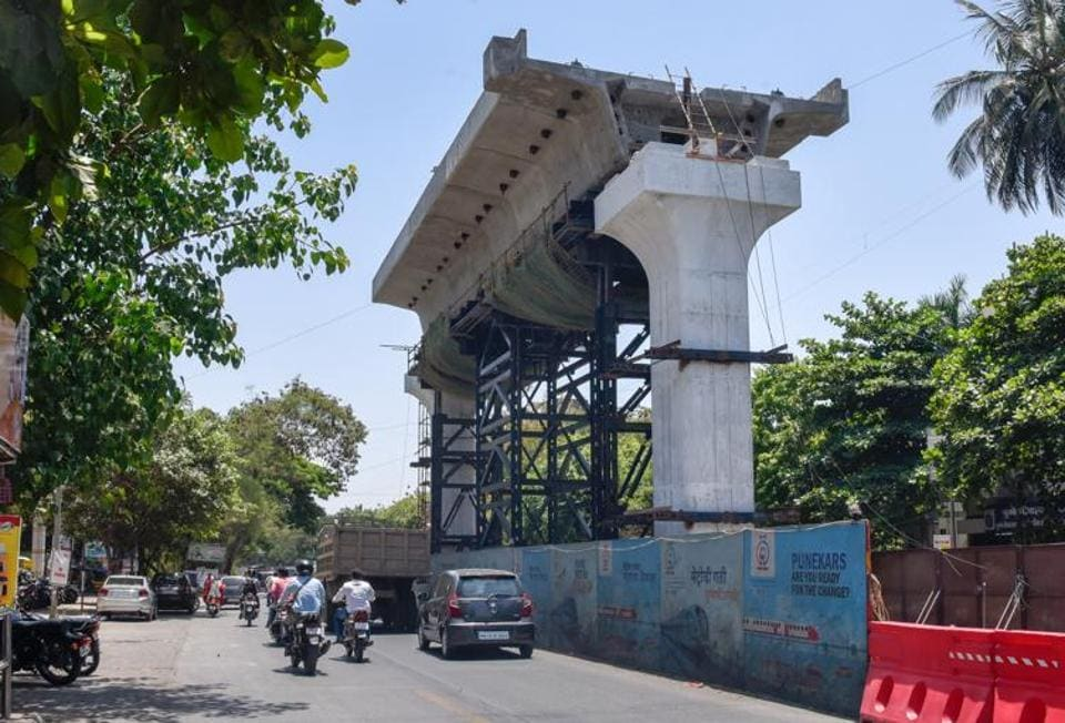 Maha-Metro completed the first segment of construction of Vanaz to Ramwadi metro route on Paud road.