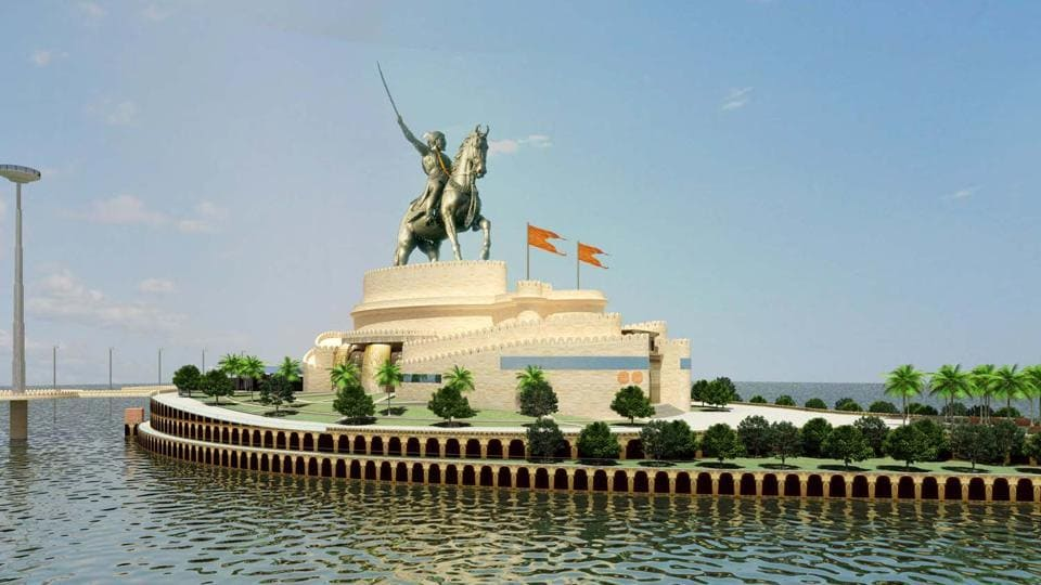 An artist's impression of the memorial in the Arabian Sea.
