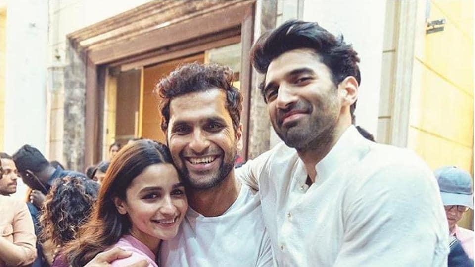 Alia Bhatt shared a picture with Kalank director Abhishek Varman and co-star Aditya Roy Kapur.