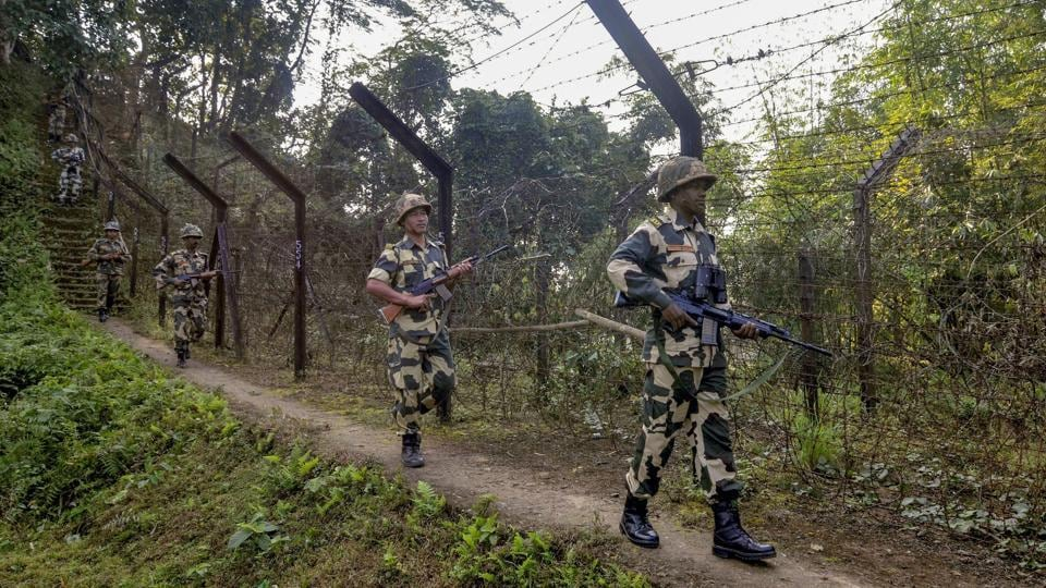 As many as 31 Rohingya were stranded between the border fence and the International Border with Bangladesh in Tripura for the last 48 hours, the Border Security Force officials said on Sunday.