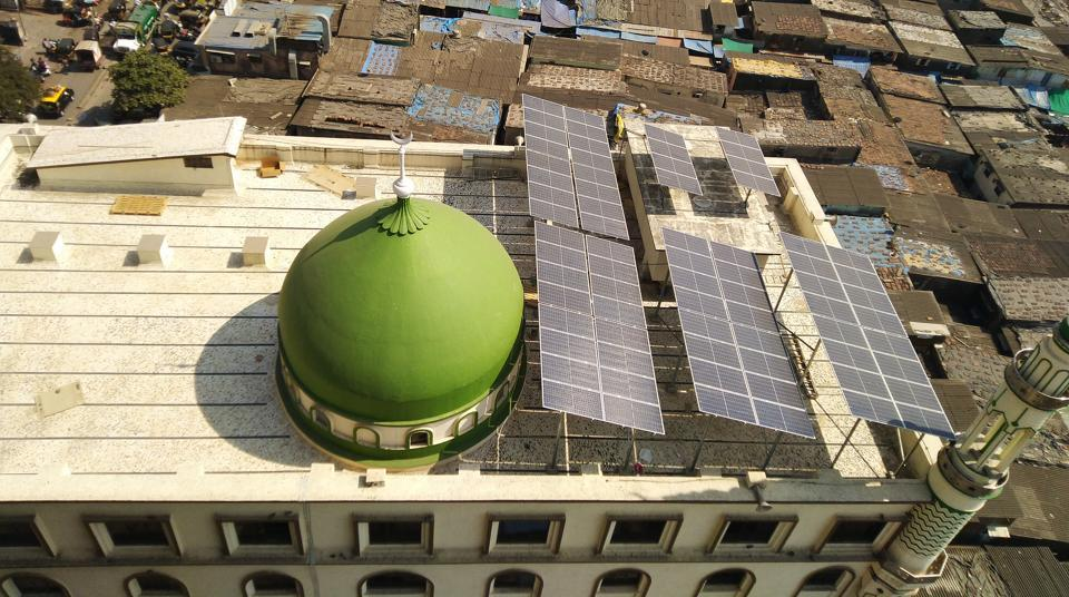 Noorani Masjid at Pathanwadi in Malad (East) has installed 72 solar panels which has helped it cut down on its electricity bills.
