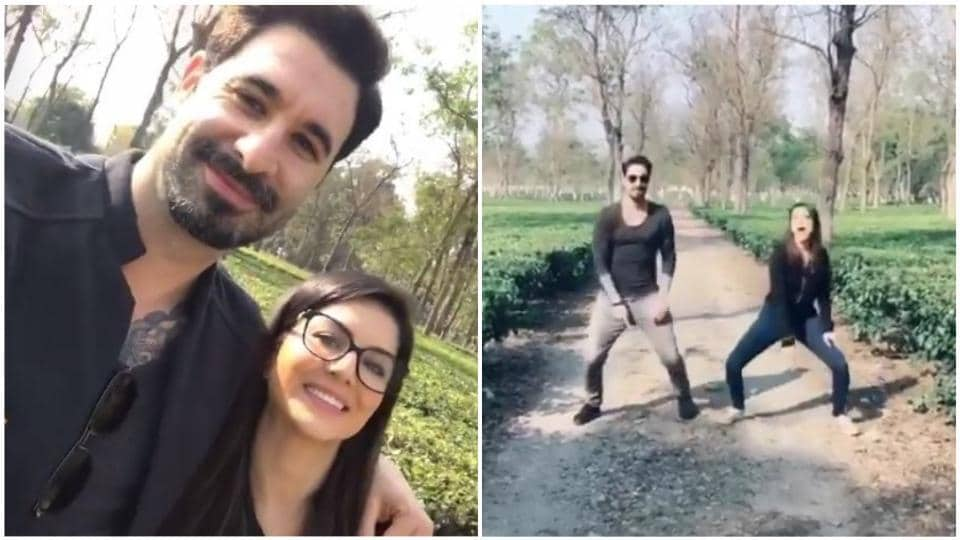 Watch Sunny Leone celebrate 18 million followers on Instagram by dancing to Aankh Maare with husband Daniel Weber