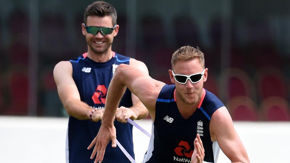 West Indies vs England,James Anderson,Stuart Broad
