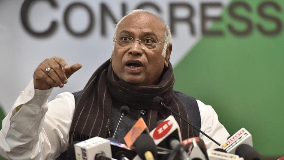 Apart from Mallikarjun Kharge (pictured) — in the panel by virtue of being the leader of the single largest opposition party in the Lok Sabha — and the PM, the panel also has Chief Justice of India (CJI) Ranjan Gogoi.