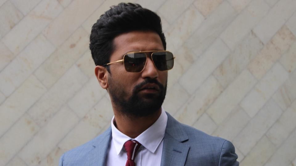Actor Vicky Kaushal arrives to attend a programme organised on Army Day in New Delhi.