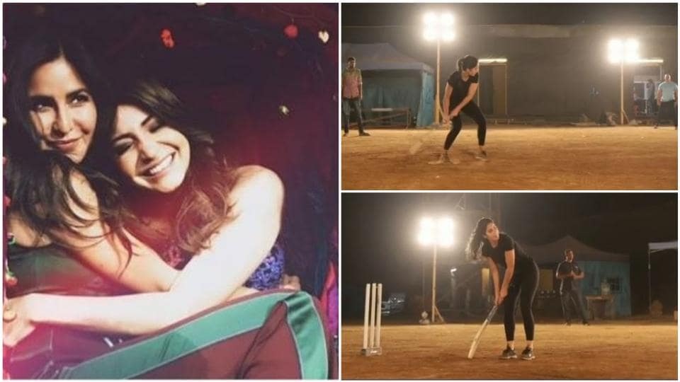 Katrina Kaif plays cricket on Bharat sets, asks Anushka Sharma to put in a good word with Virat Kohli. Watch