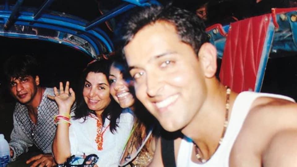 Shah Rukh Khan and Hrithik Roshan had a Kabhi Khushi Kabhie Gham reunion in Thailand in 2003.