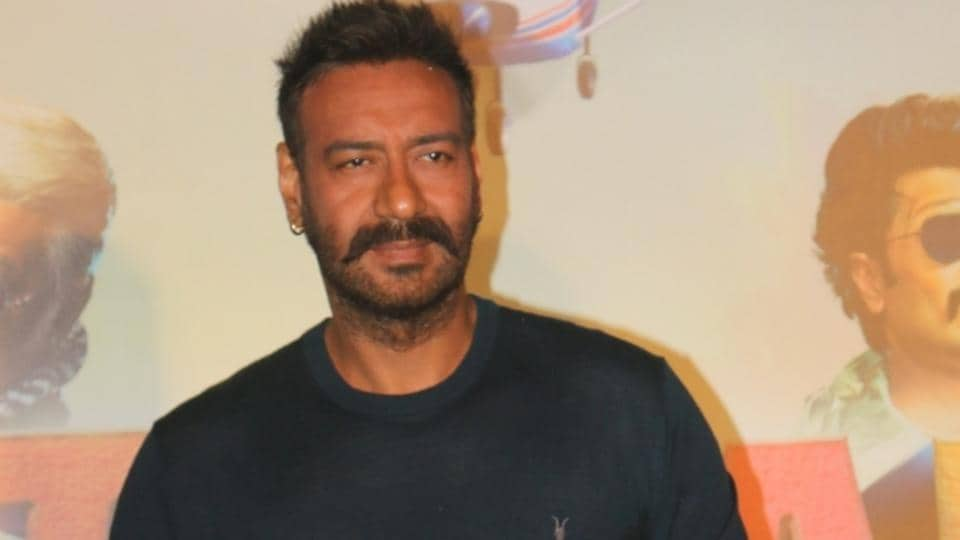 Actor Ajay Devgn at the trailer launch of upcoming film Total Dhamaal in Mumbai.
