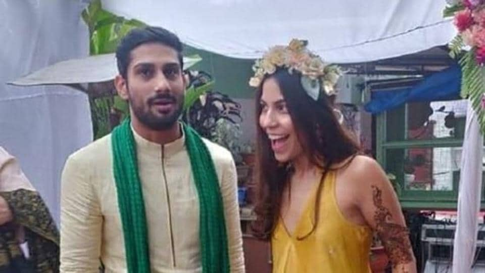 Inside Prateik Babbar and Sanya Sagar's mehendi ceremony