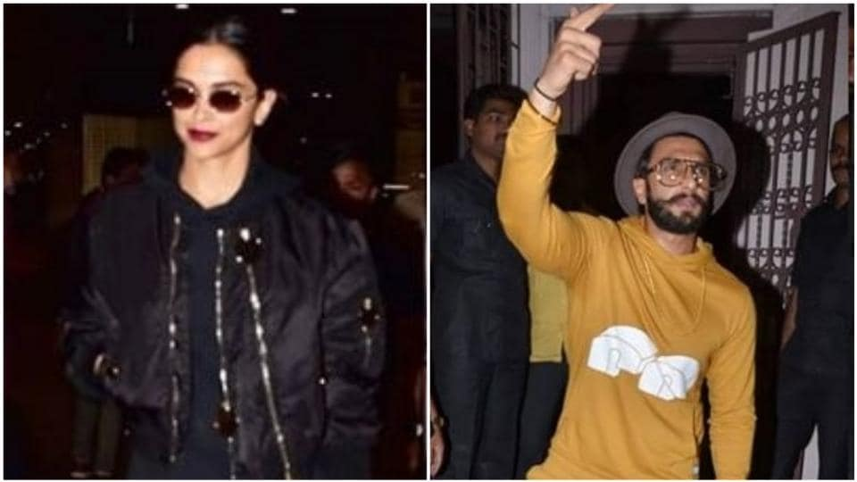 Deepika Padukone returns from Paris while husband Ranveer Singh spreads the Gully Boy fever. See pics