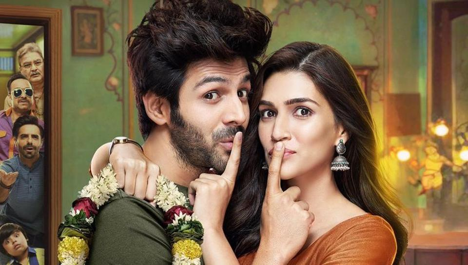 Luka Chuppi First Poster Kartik Aaryan Kriti Sanon Play Hide And