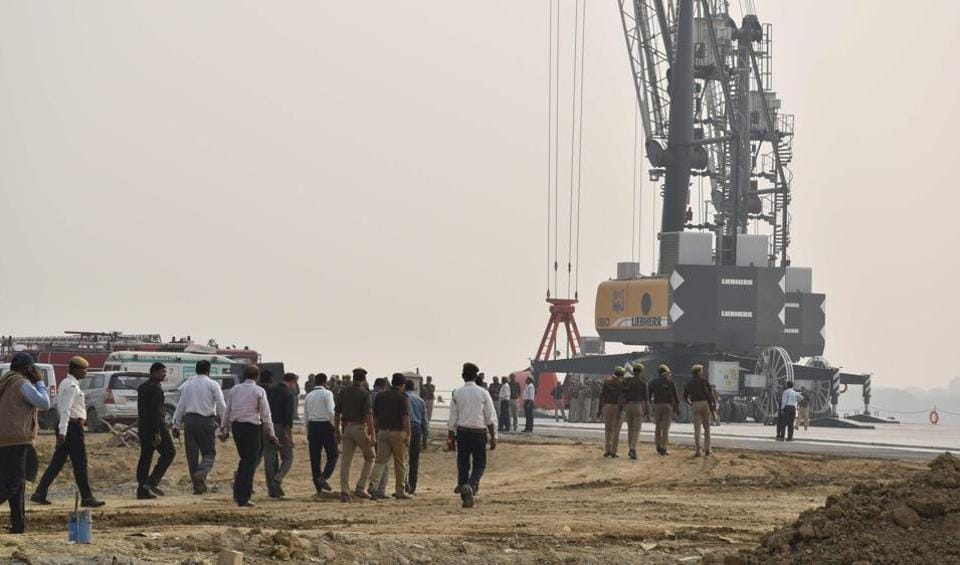 The under-construction inland waterways project, Varanasi, November 11, 2018. According to the project's consultants, its internal rate of return will be 21.40%