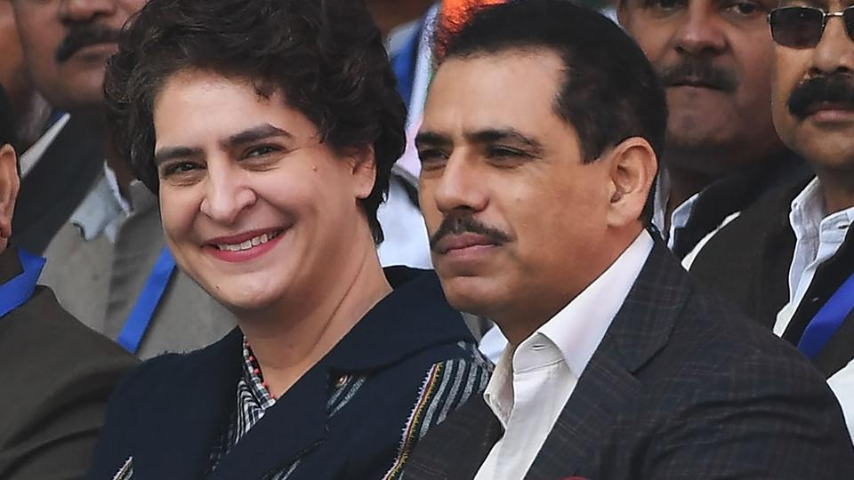 Priyanka Gandhi Vadra's husband Robert Vadra has congratulated her after she was appointed the general secretary of the Congress party in eastern Uttar Pradesh.
