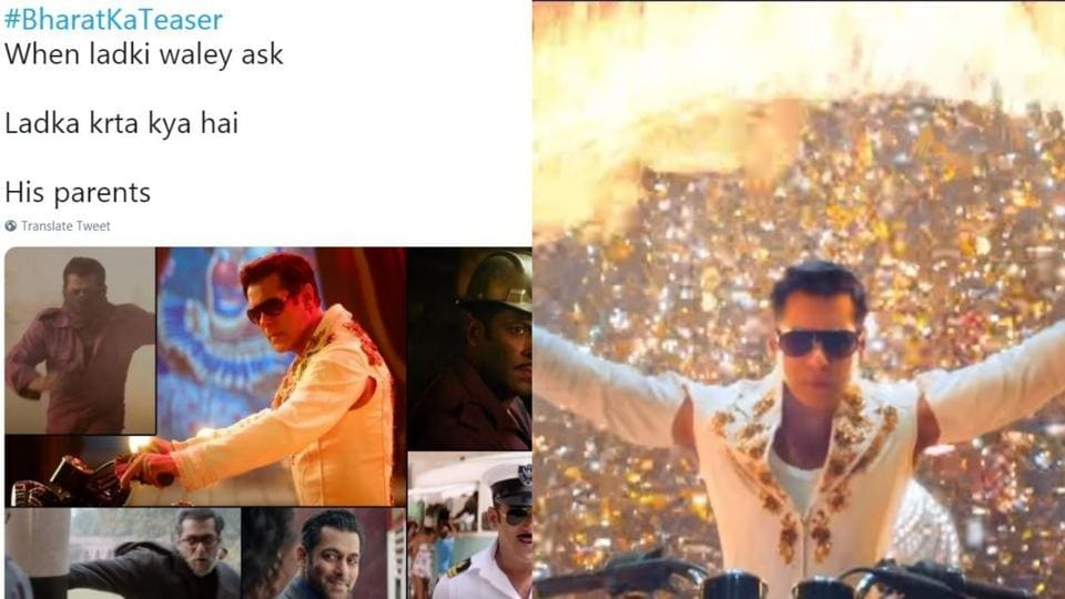 Funny memes on Salman Khan's Bharat teaser have flooded the internet.