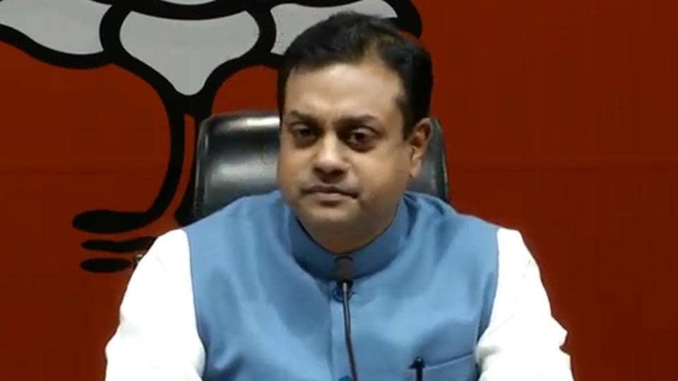 BJPspokesperson Sambit Patra addresses a press conference in New Delhi on Friday, January 25, 2019.