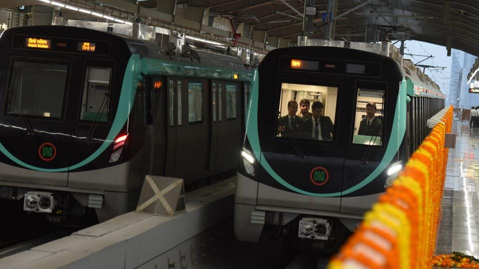 metro's aqua line,noida-greater noida metro line,noida greater noida metro line launch