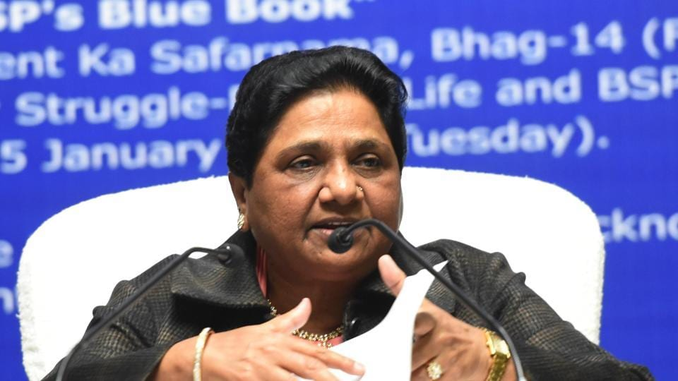 Bahujan Samaj Party supremo Mayawati speaks to media during a press conference on her 63rd birthday, Lucknow, January 15, 2019