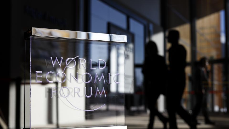 Attendees depart the Congress Center on the closing day of the World Economic Forum (WEF) in Davos, Switzerland on January 25.