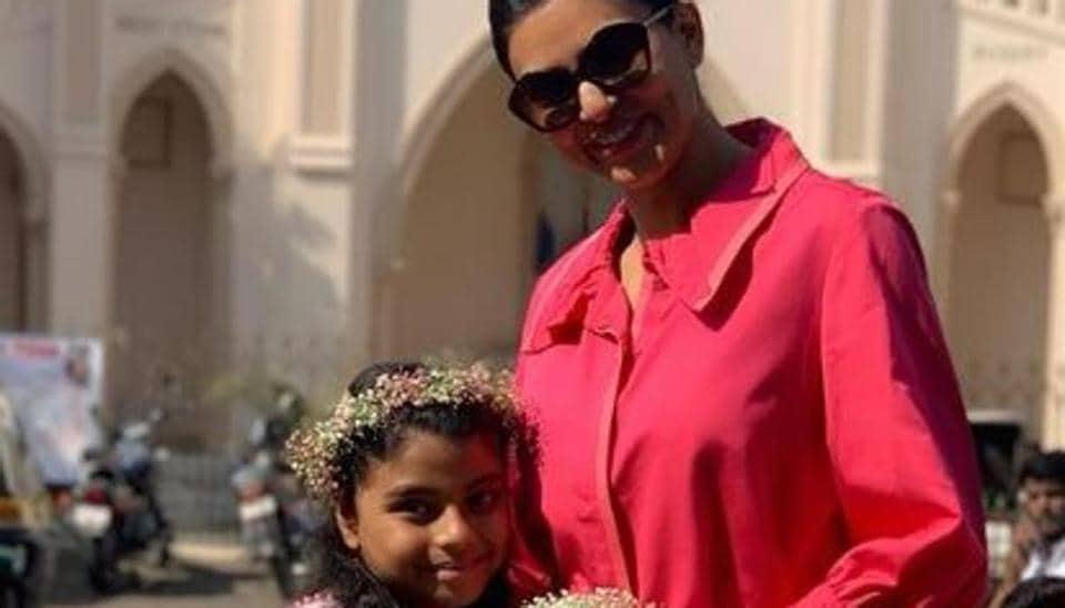 Sushmita Sen with daughter Alisah.