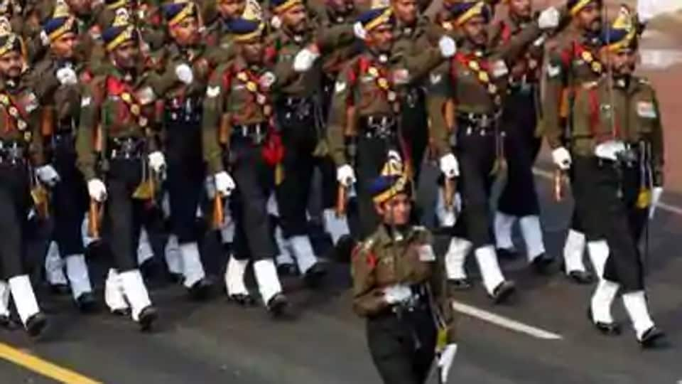 Lieutenant Bhavana Kasturi leads all-male Army Service Corps (ASC) contingent during the full dress rehearsal for the Republic Day Parade at Rajpath in New Delhi, Wednesday, Jan 23, 2019. Kasturi will be the first-ever lady officer to lead an all-male contingent in the Republic Day parade.