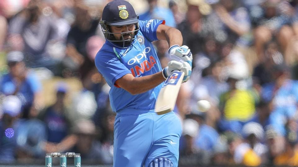 Rohit Sharma of India plays a shot during the second one day international between India and New Zealand. (AP)