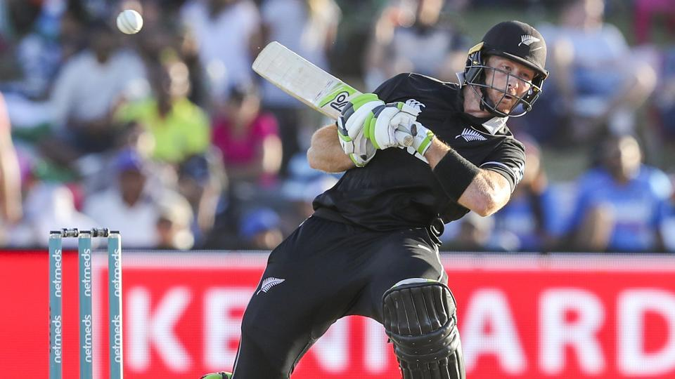 New Zealand's Martin Guptill plays during the second one day international between India and New Zealand. (AP)
