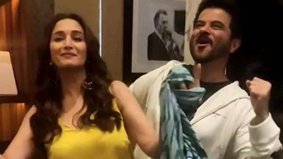 Madhuri Dixit and Anil Kapoor recreate the iconic My name is Lakhan from Ram Lakhan.