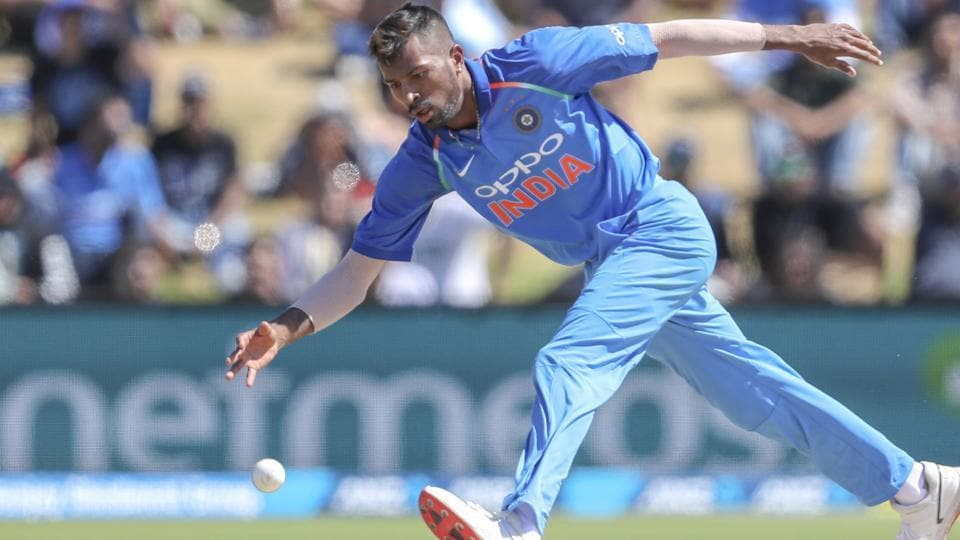 Hardik Pandya plays during the third one day international between India and New Zealand. (AP)