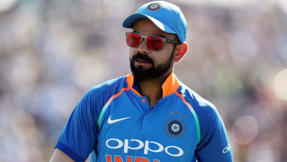 India's Virat Kohli reacts during the third one day international cricket match between New Zealand and India at Bay Oval in Mount Maunganui on January 28, 2019