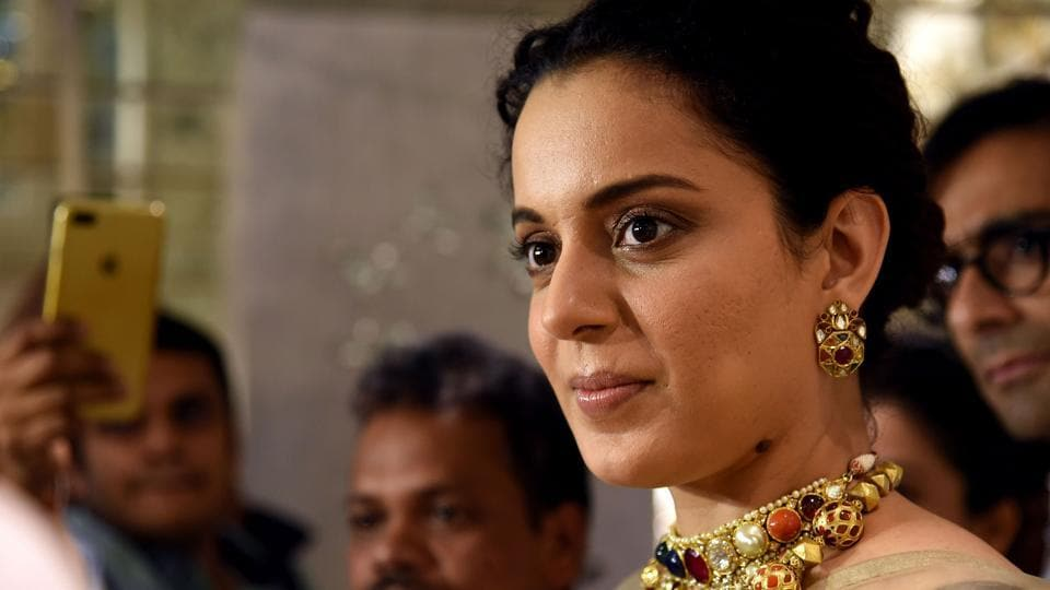 Actor Kangana Ranaut takes part in a promotional event for the Hindi film Manikarnika.