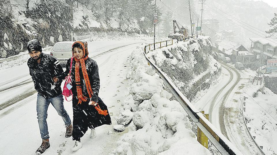 snowfall in Himachal,avalanche warning in himachal,cold wave in shimla