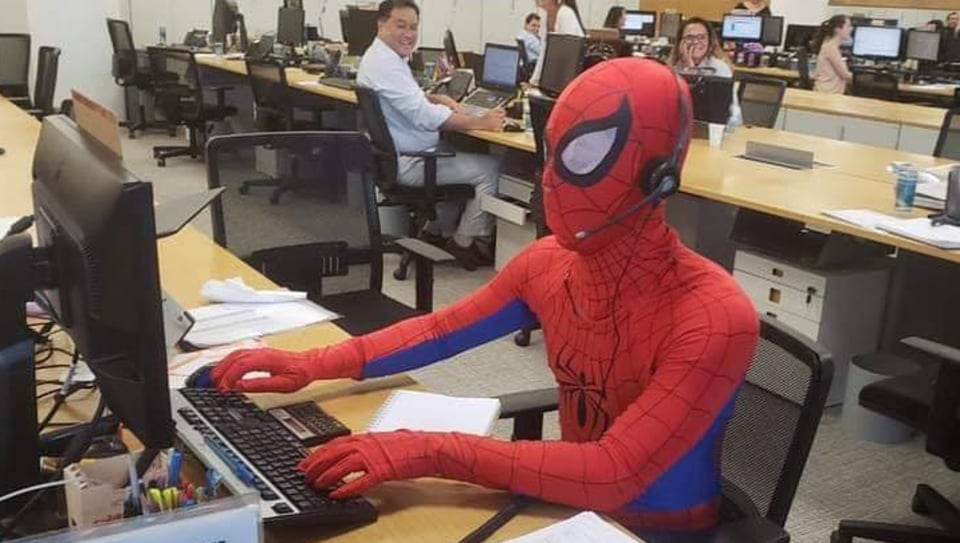 spider-man,spiderman,last day at work