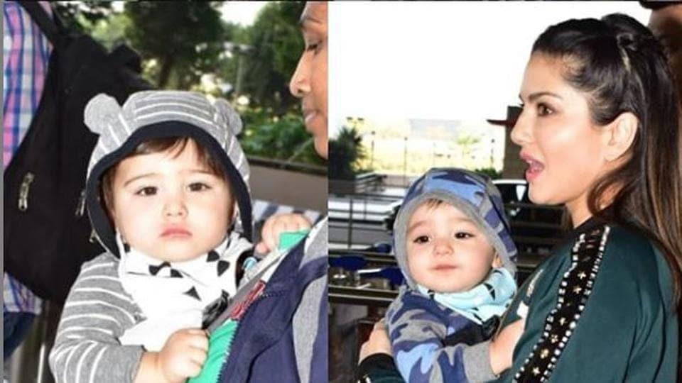Sunny Leone,Sunny Leone Babies,Sunny Leone Sons