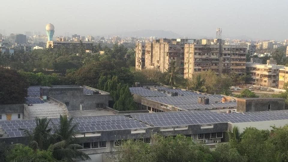 SNDT University,solar panels at SNDT,solar power