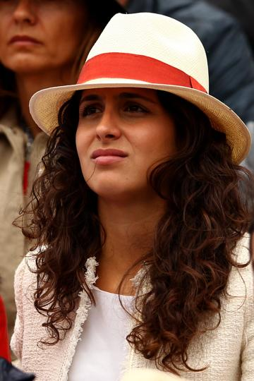 PARIS, FRANCE - JUNE 10: Rafael Nadal's girlfriend Xisca Perello watches the men's singles final between Novak Djokovic of Serbia and Rafael Nadal of Spain on day 15 of the French Open at Roland Garros on June 10, 2012 in Paris, France. (Photo by Clive Brunskill/Getty Images) (Getty Images)