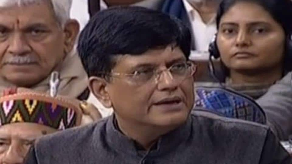 Finance Minister Piyush Goyal during his budget speech in the Lok Sabha on Friday.