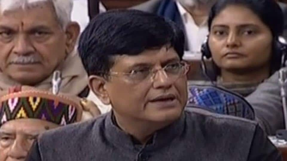 Finance Minister Piyush Goyal presenting Budget 2019-20 in the Lok Sabha on Friday.