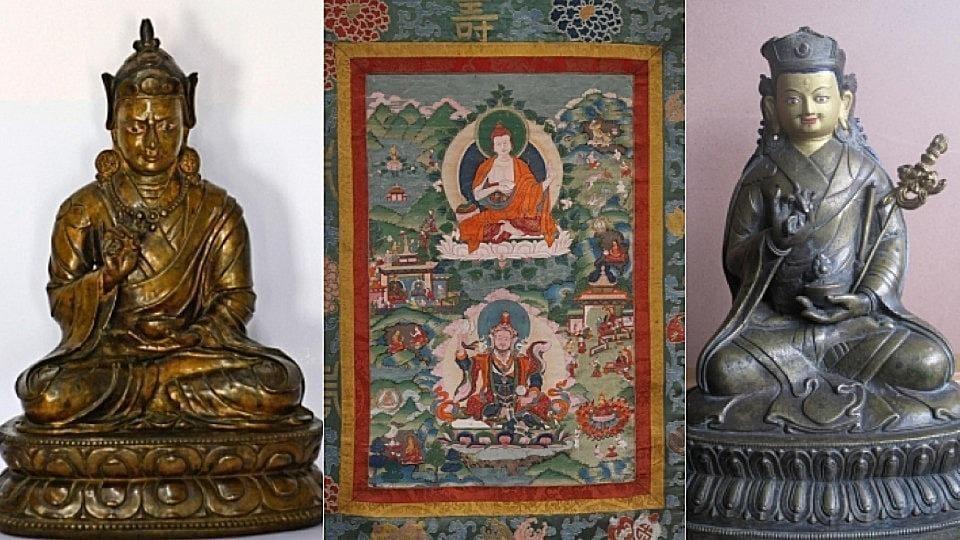 Artefact,artefact on iconic Buddhist figure,India-Bhutan tie