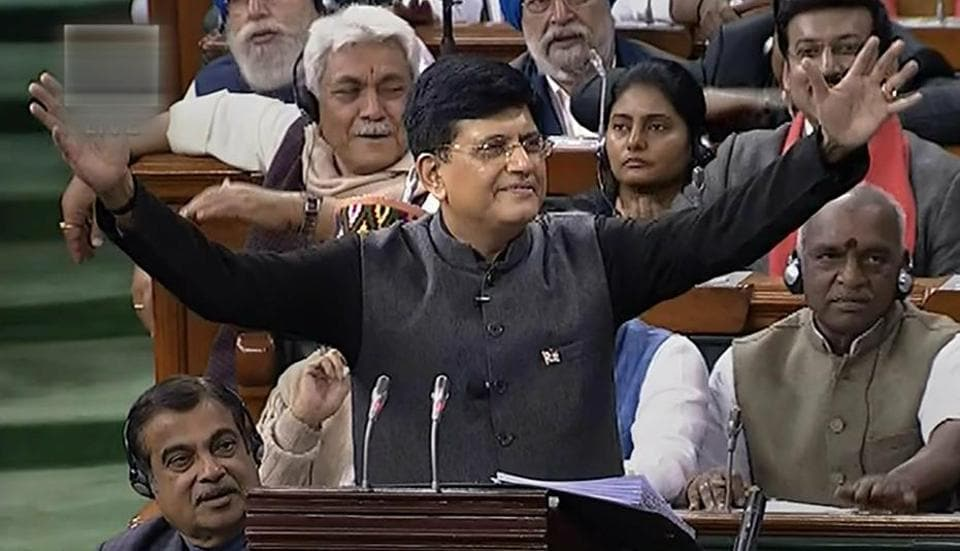 Piyush Goyal,Interim budget,tax relief