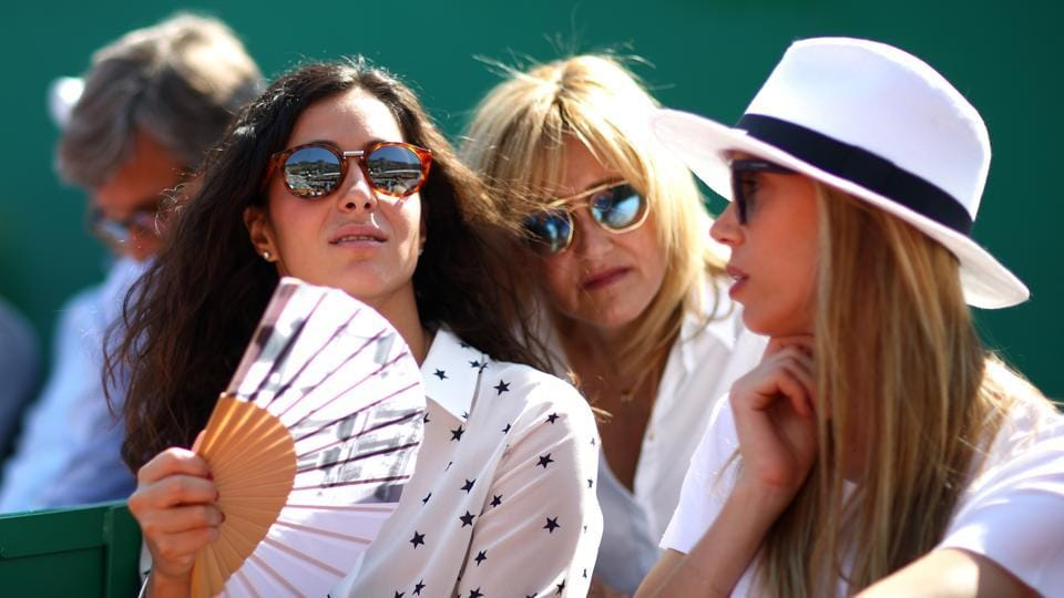 Girlfriend of Nadal, Xisca Perello with Nadal's mother Ana Maria Parera and sister Maria Isabel Nadal as they watch Rafael Nadal of Spain play Grigor Dimitrov of Bulgaria during day seven of the ATP Masters Series Monte Carlo Rolex Masters at Monte-Carlo Sporting Club on April 21, 2018 in Monte-Carlo, Monaco.  (Getty Images)