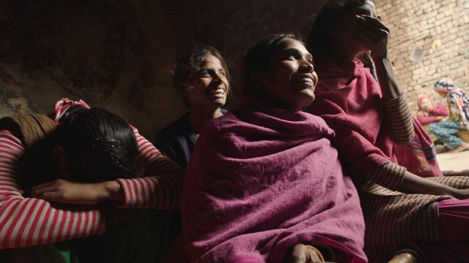 A still from 'Period. End of Sentence', which tracks how attitudes and approaches to menstruation changed after a local social entrepreneur began making and distributing low-cost sanitary pads.