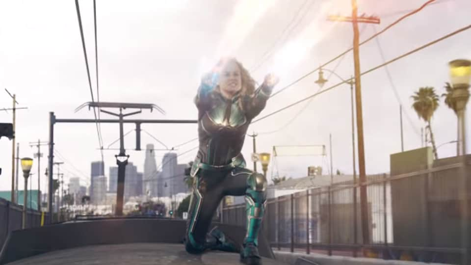 Captain Marvel,Captain Marvel clip,Brie Larson