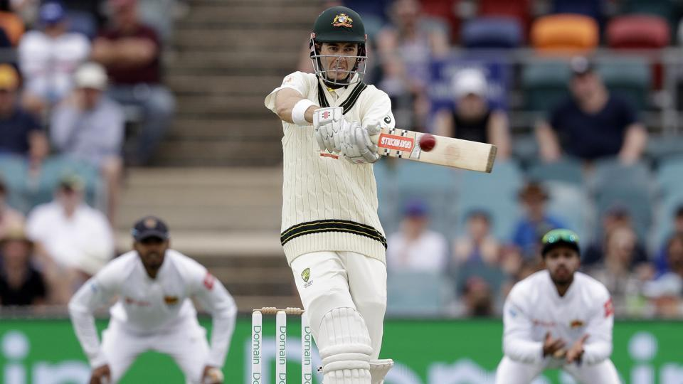 Australia's Kurtis Patterson plays a shot on the second day of the second Test against Sri Lanka in Canberra.