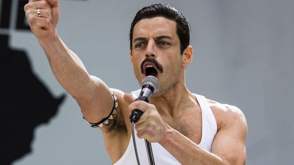 This image released by Twentieth Century Fox shows Rami Malek in a scene from Bohemian Rhapsody.