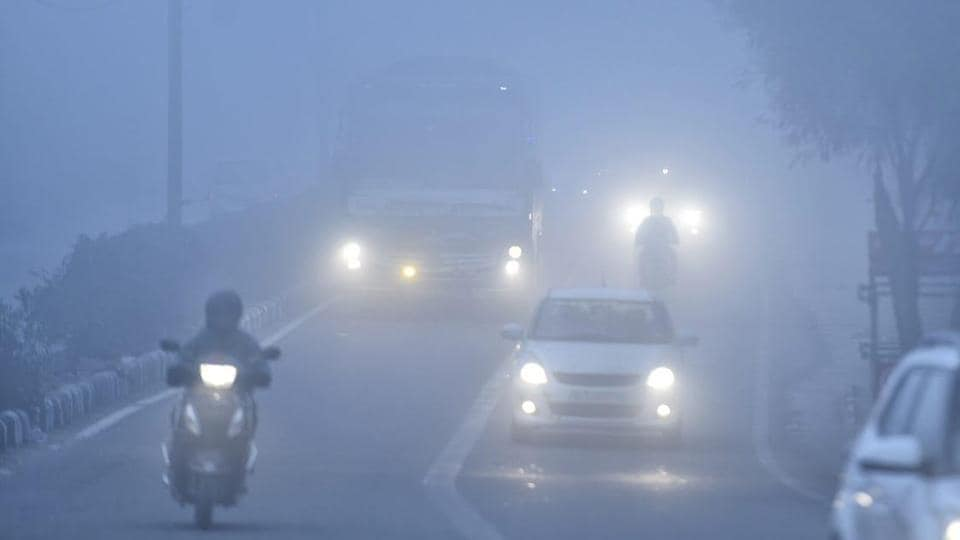 A dense fog enveloped Delhi on Monday morning as several flights to and from the national capital were delayed and 27 trains were running late, officials said.
